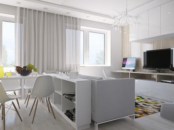 Blog wn trzarski design nowoczesne projekty wn trz jak for Design apartment 50m2