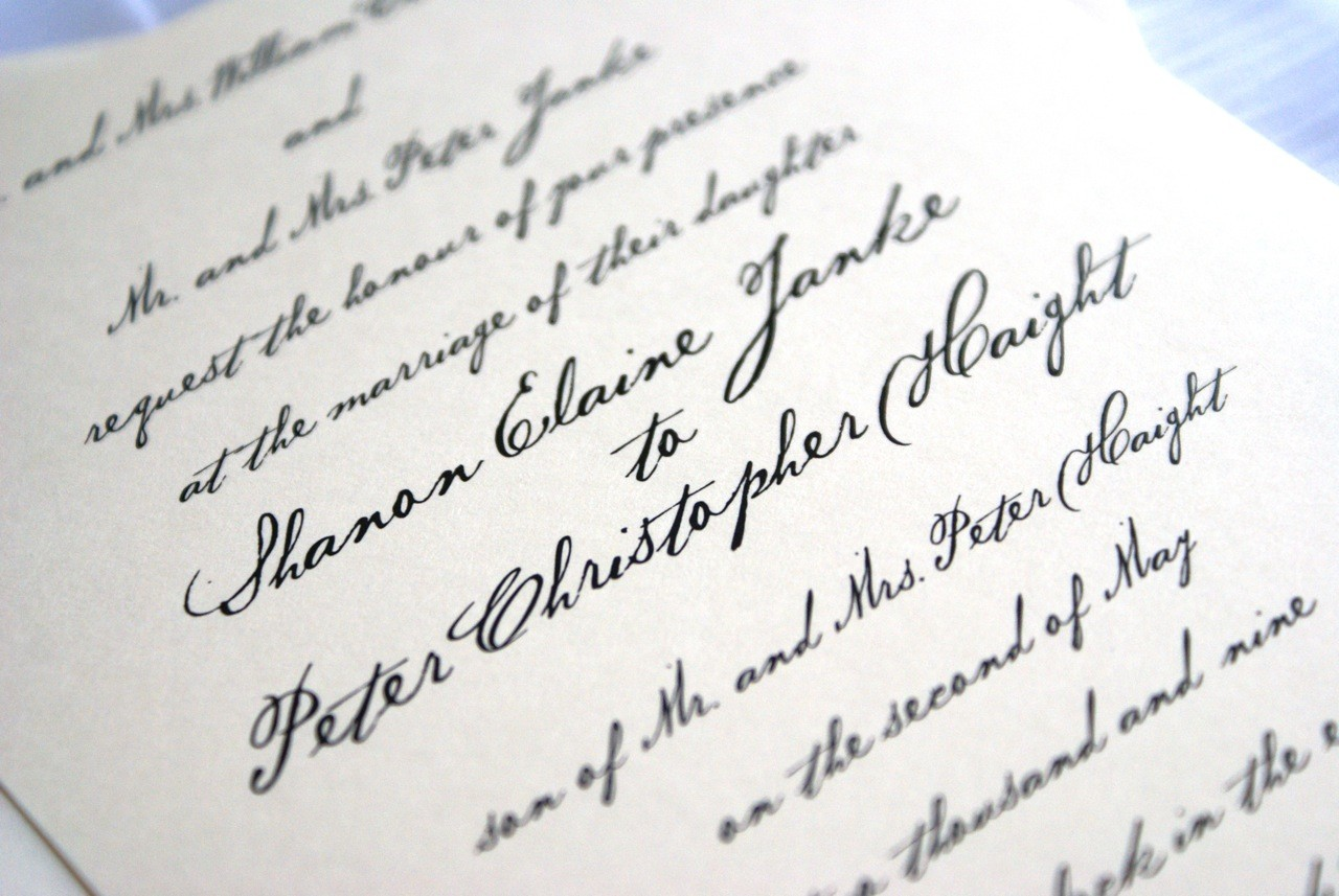 Handwritten Wedding Invitations Imprint your own Feelings via the