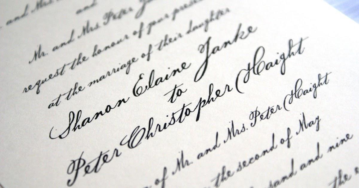Handwritten Wedding Invitations\' Imprint your own Feelings via the ...