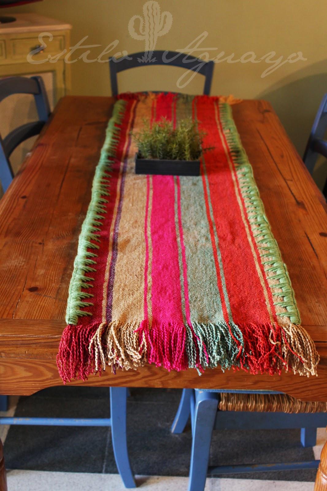 Camino para decorar la mesa estilo aguayo - Camino a casa decoracion ...