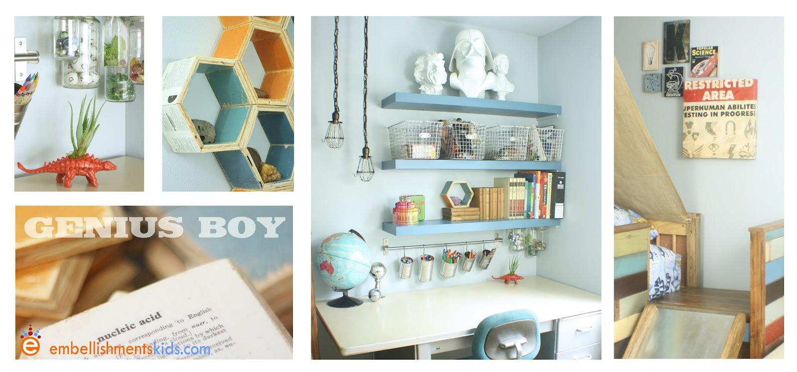 embellishments genius boy s bedroom the theory of