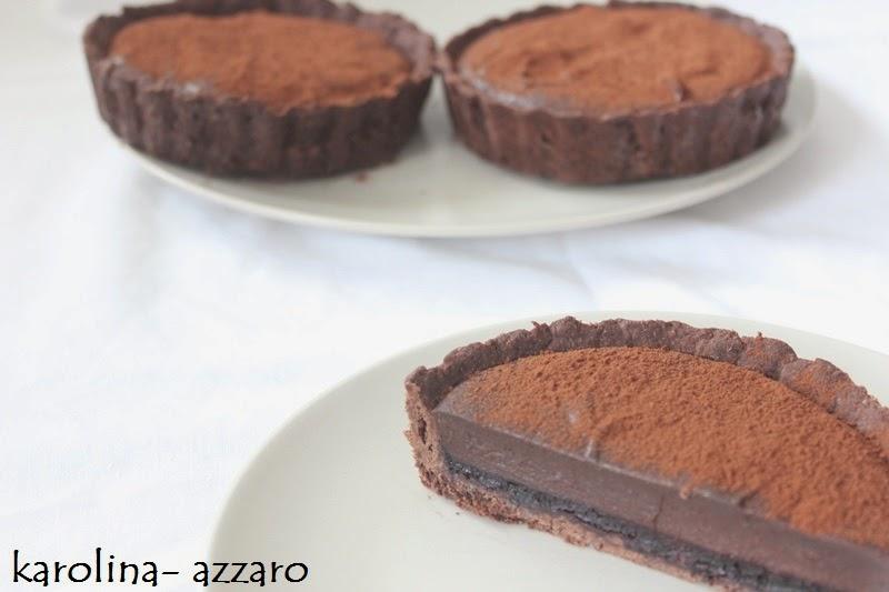 Kakaové Tartaletky s čučoriedkovým želé a čokoládovým whisky krémom
