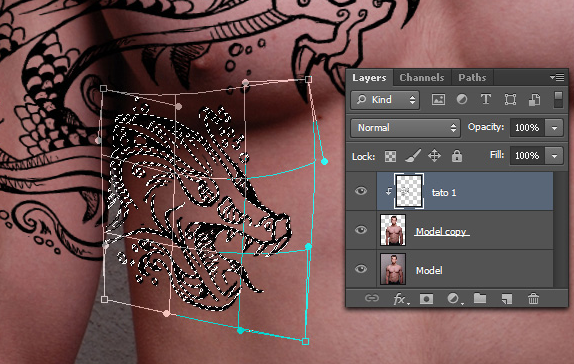 Tutorial Cara Membuat Tato Menggunakan Photoshop