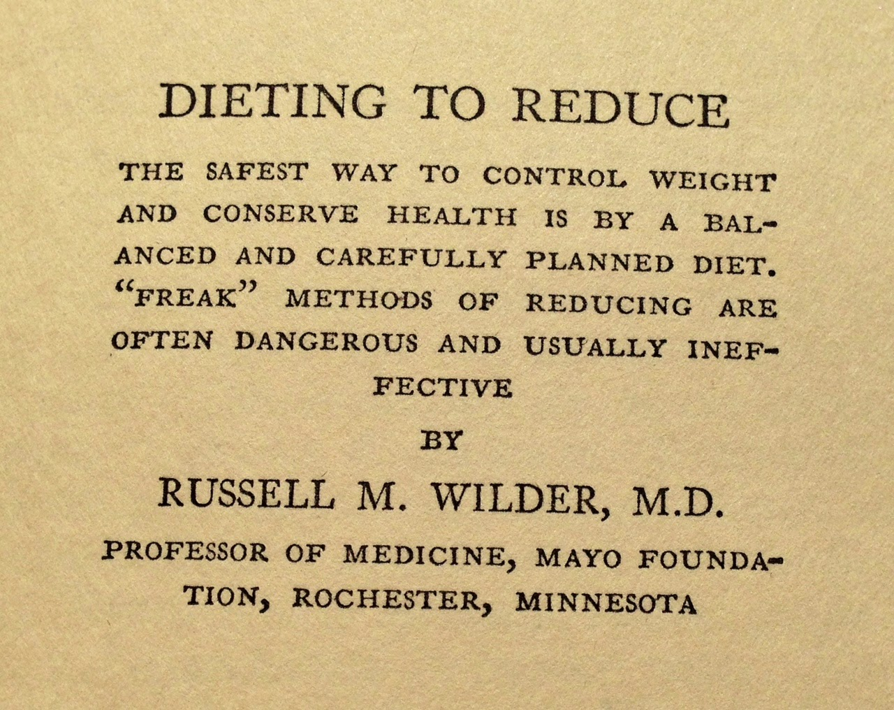 Weighty Matters Visionary Quotes From 1929 Obesity Textbook On