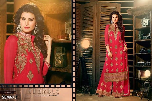 New Collection Palazzo Straight Long Salwar Kameez