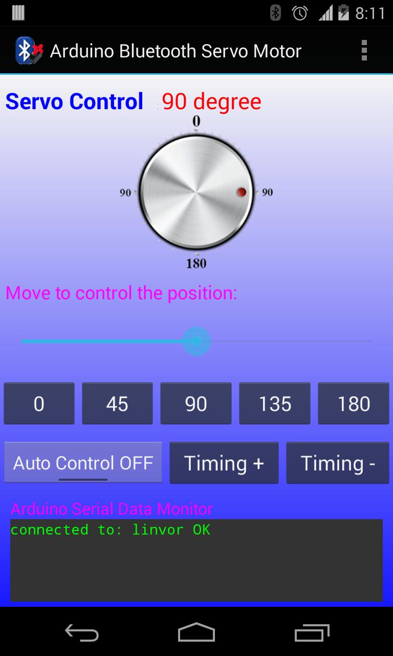 Android arduino control arduino bluetooth servo motor control for How to program servo motor