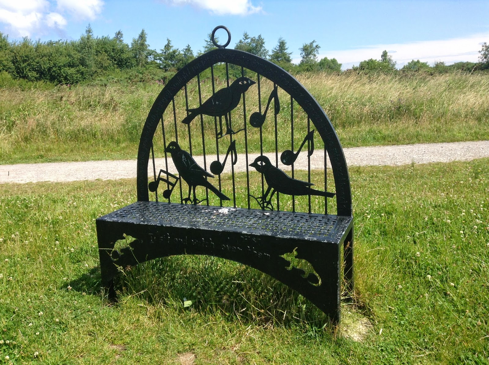 Sutton Manor coal miners poem bench