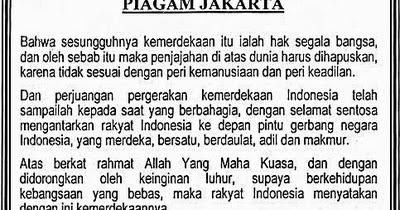 Rumusan Pancasila Sebagai Dasar Negara Piagam Jakarta ...
