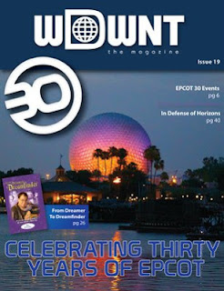 Cover image of WDWNT The Magazine showing Spaceship Earth