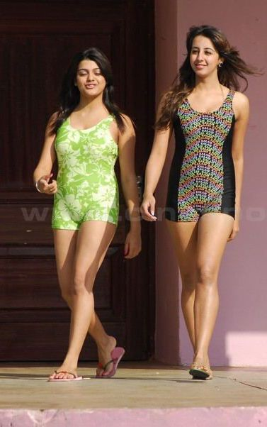South Hot Sanjana and Thashu Spicy Bikini Shoot in Dussasana hot images