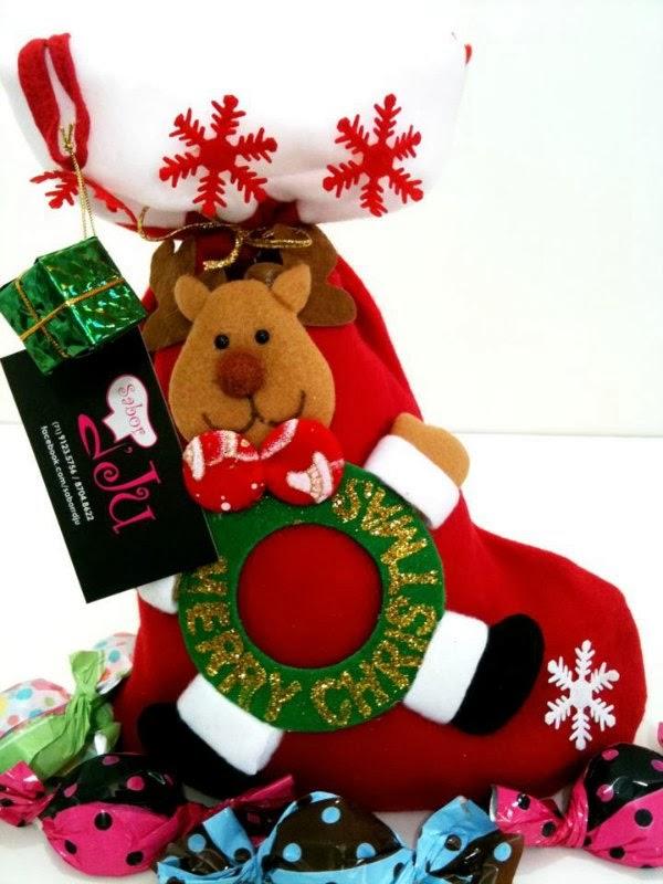 Sabor D'Ju: Kit Meia de Papai Noel