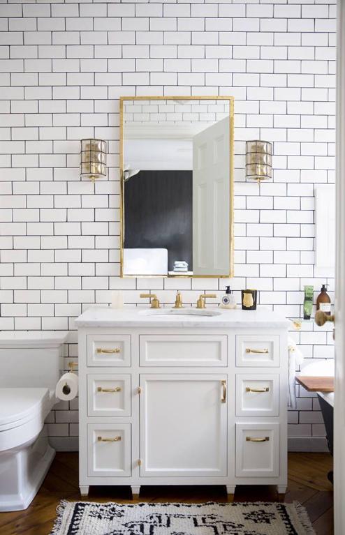 Needing  Wanting  Loving  A Brass Bathroom. The Peak of Tres Chic  Needing  Wanting  Loving  A Brass Bathroom