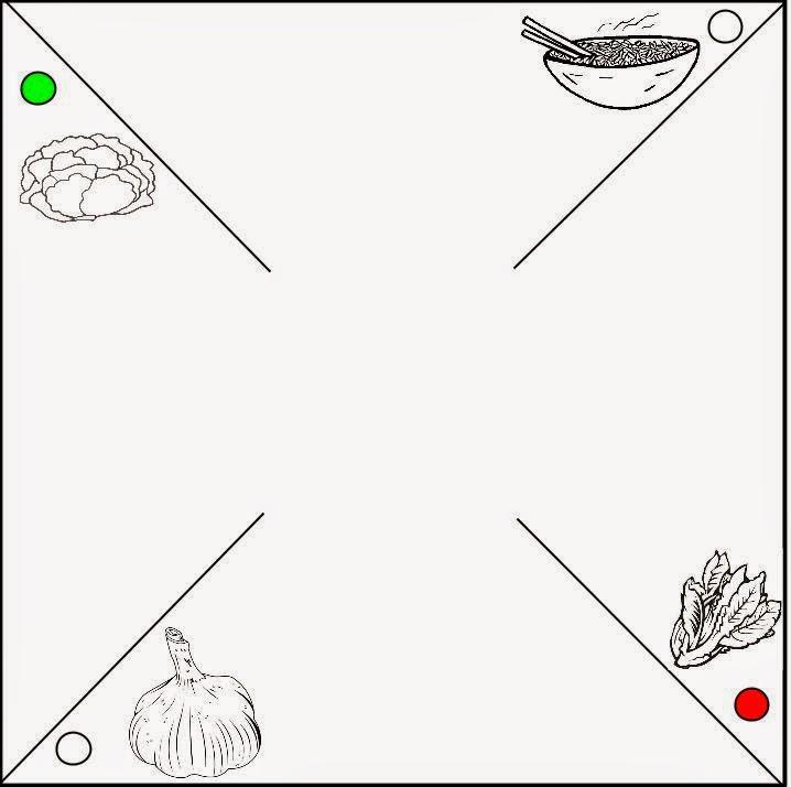 Girandola tricolore dei prodotti Polesani orticoli DOP e IGP: insalta, aglio, riso, radicchio