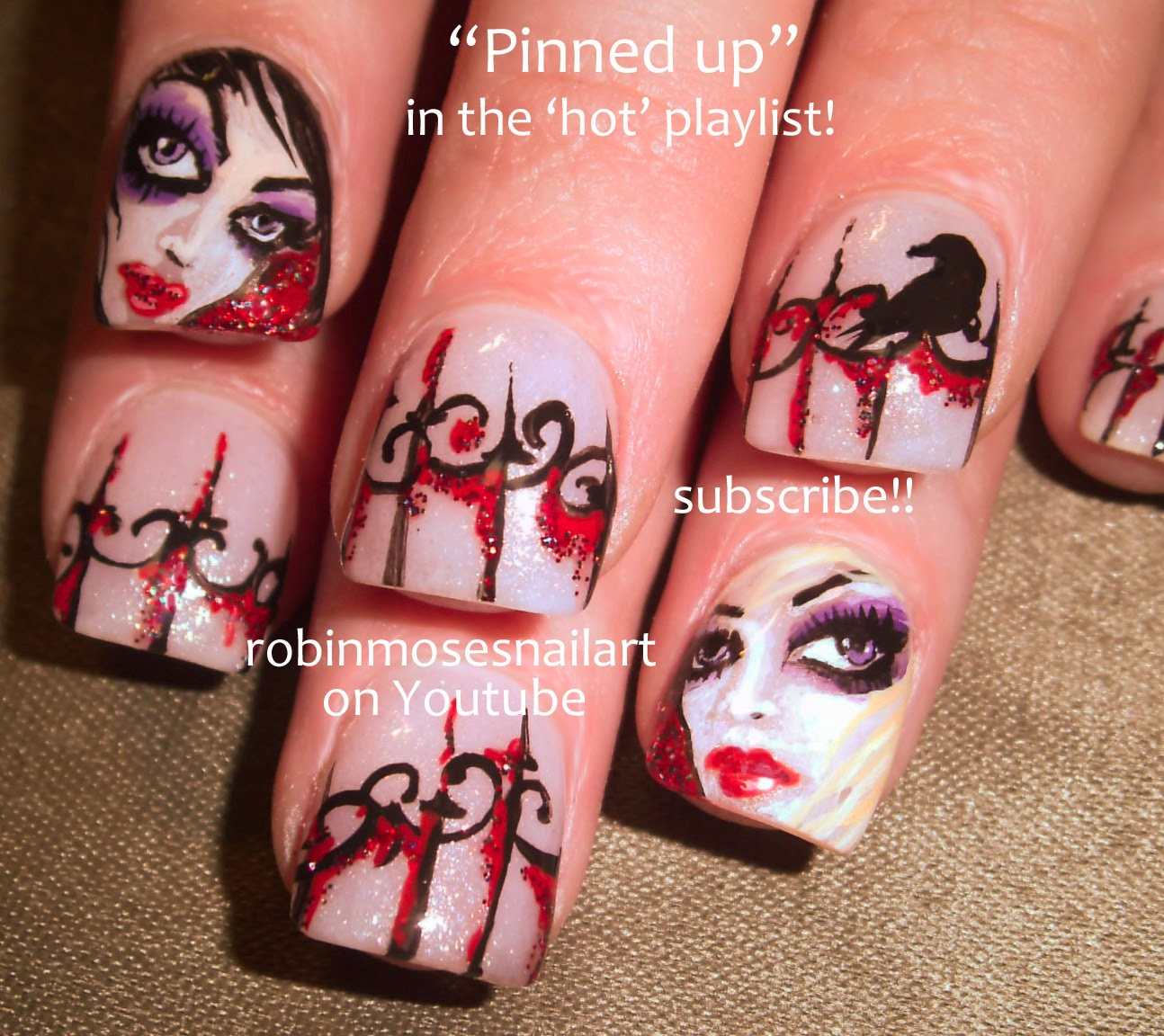 Robin moses nail art halloween nails halloween nail art nail art tutorials diy flower nail art tutorial designs for beginners and up prinsesfo Choice Image
