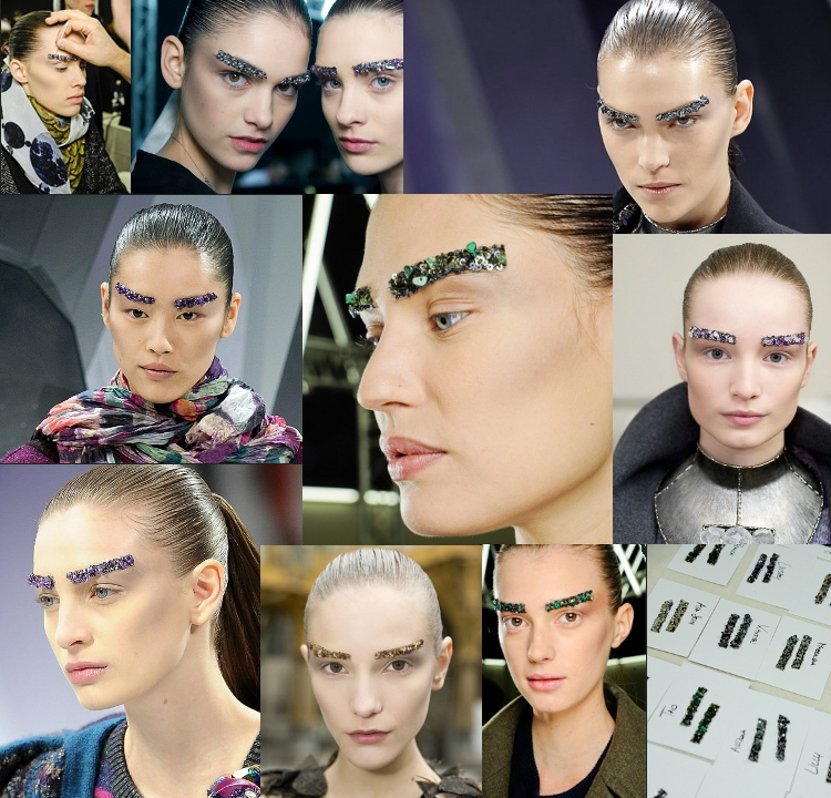 Chanel embellished eyebrows