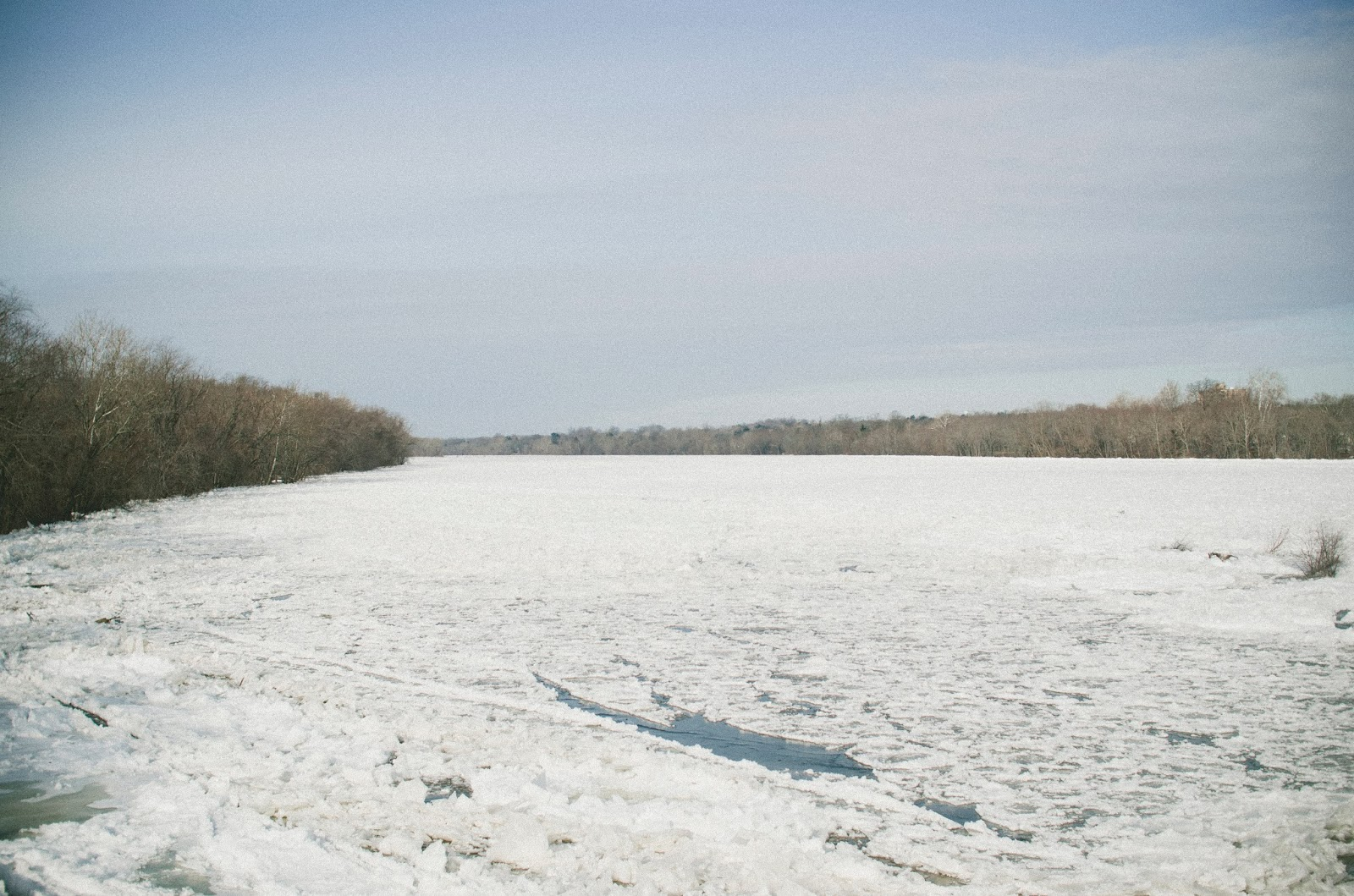 Delaware, River, Frozen, Trenton