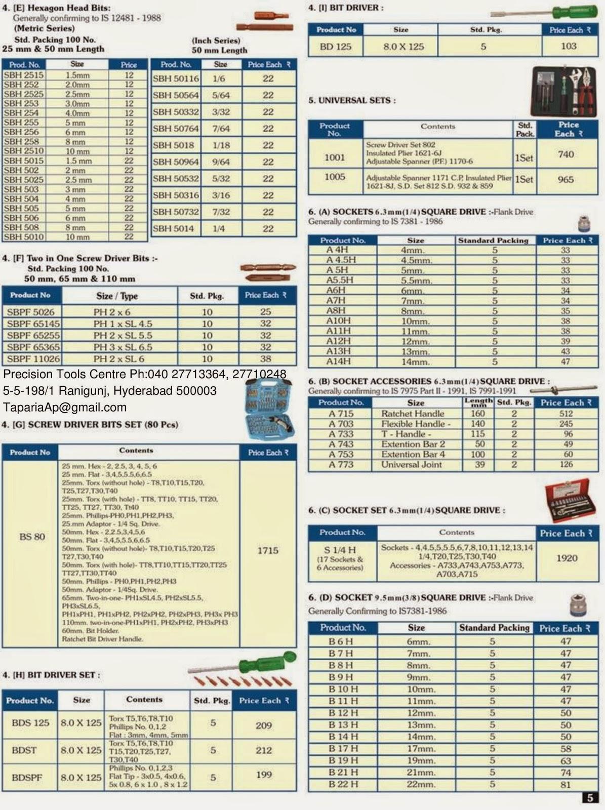 taparia tools price list catalogue. Black Bedroom Furniture Sets. Home Design Ideas