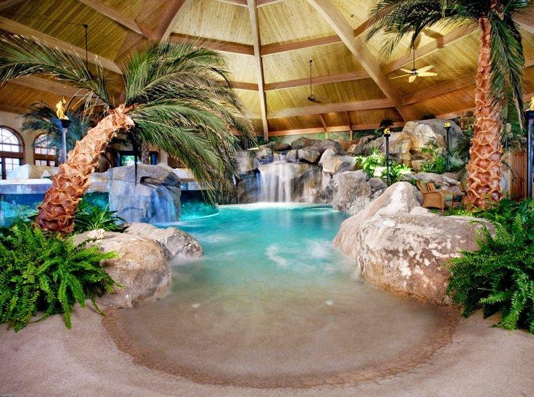 Piscinas con cascadas oasisingular for Piscinas pequenas con cascadas