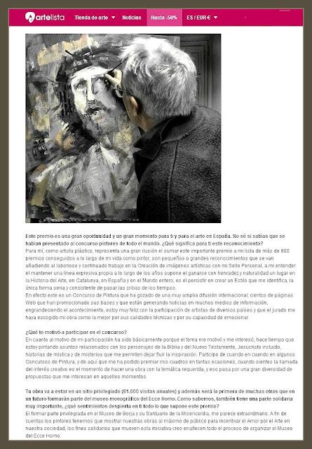 CONCURSO-PINTURA-CECILIA GIMENEZ-ECCE HOMO-ENTREVISTAS-ARTELISTA-PINTOR-ERNEST DESCALS