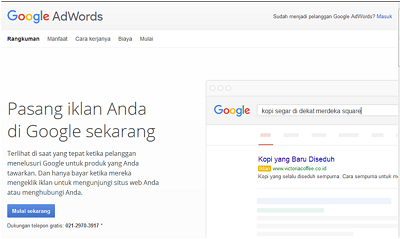 Google Adwords, periklanan