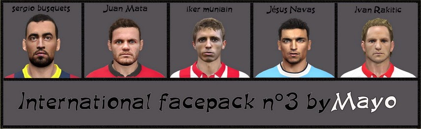 PES 2014 International Facepack n°3 by Mayo Facemaker