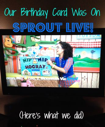 Buddy Doos AdventureRoos Our Birthday Card Was on Sprout Heres