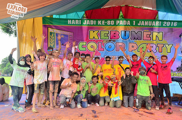 Kebumen Color Party, Color Run di Alun Alun
