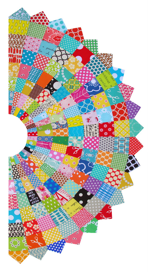 Red pepper quilts giant scrappy dresden plate block and tutorial