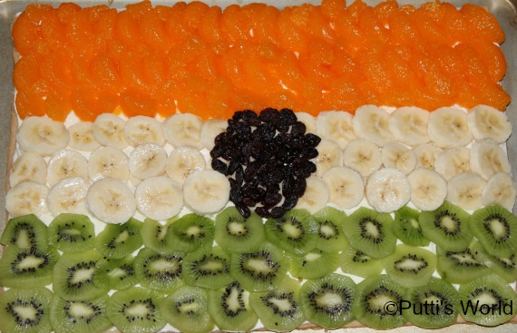 India Flag Cake Pizza