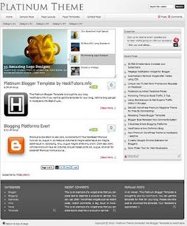 Platinum Blogger Template