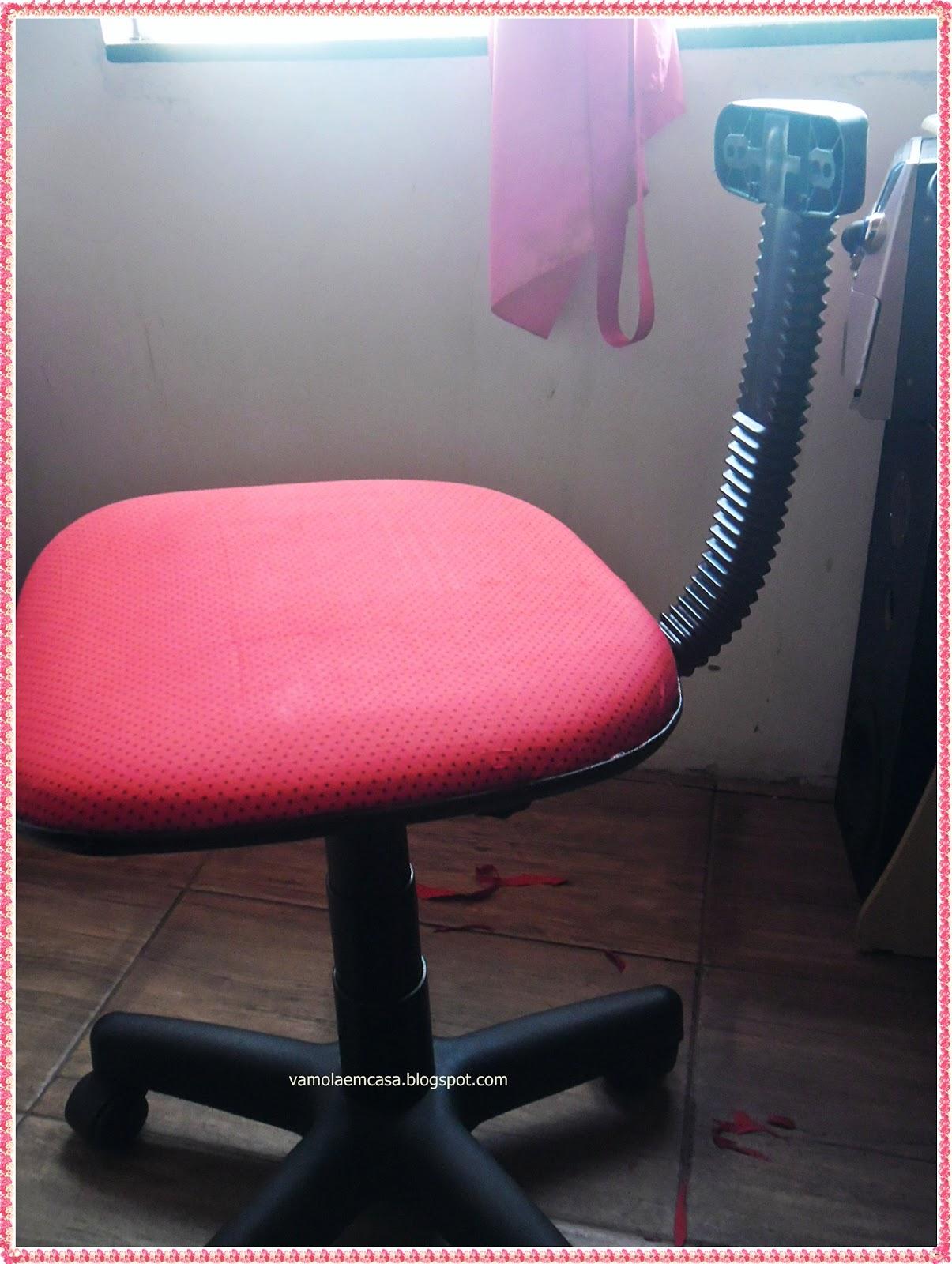 Vâmo Lá em Casa: Reformando a Cadeira do Computador com Tecido #B91237 1205x1600