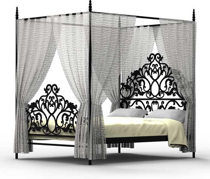 Muebles de forja camas altas camas dosel de forja for Cama de forja blanca