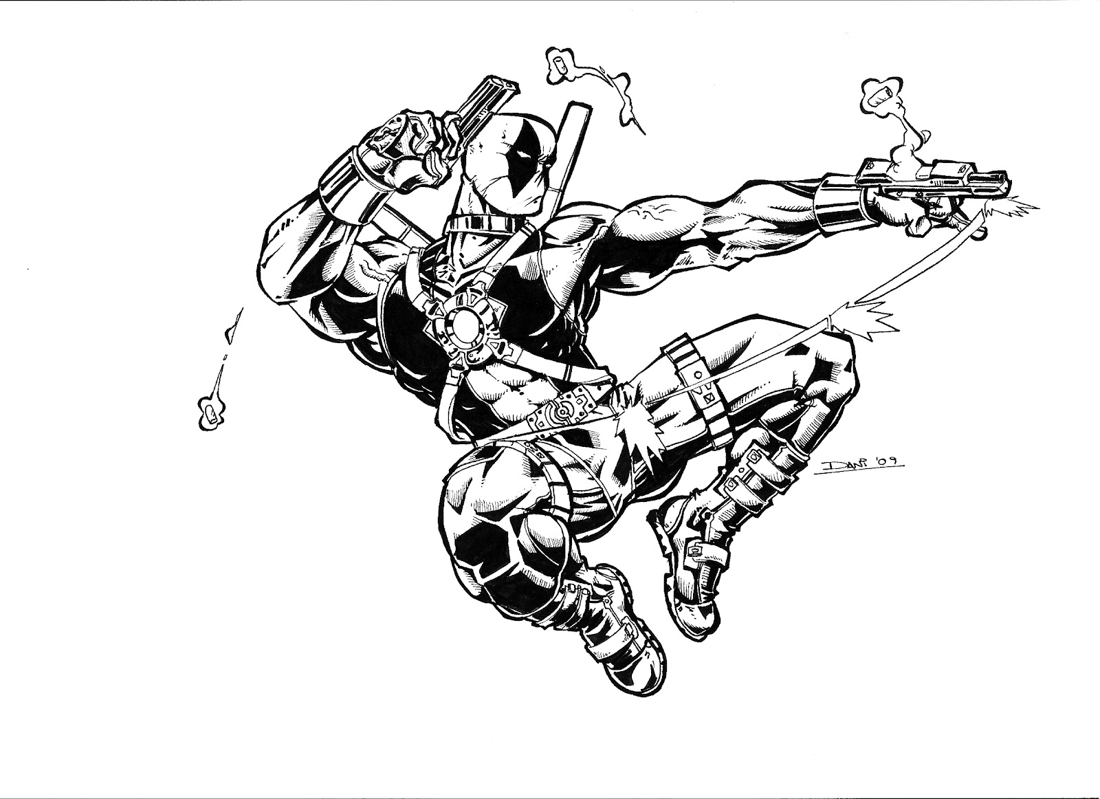 Excepcional Deadpool Para Colorear Imprimible Imagen - Dibujos Para ...