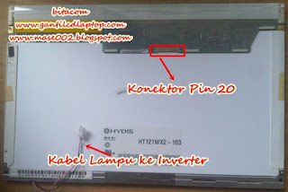 Jual lcd 12.1 DELL inspiron 700m 710m