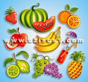 Vektor buah-buahan Format EPS