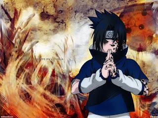 Sasuke concentrándose