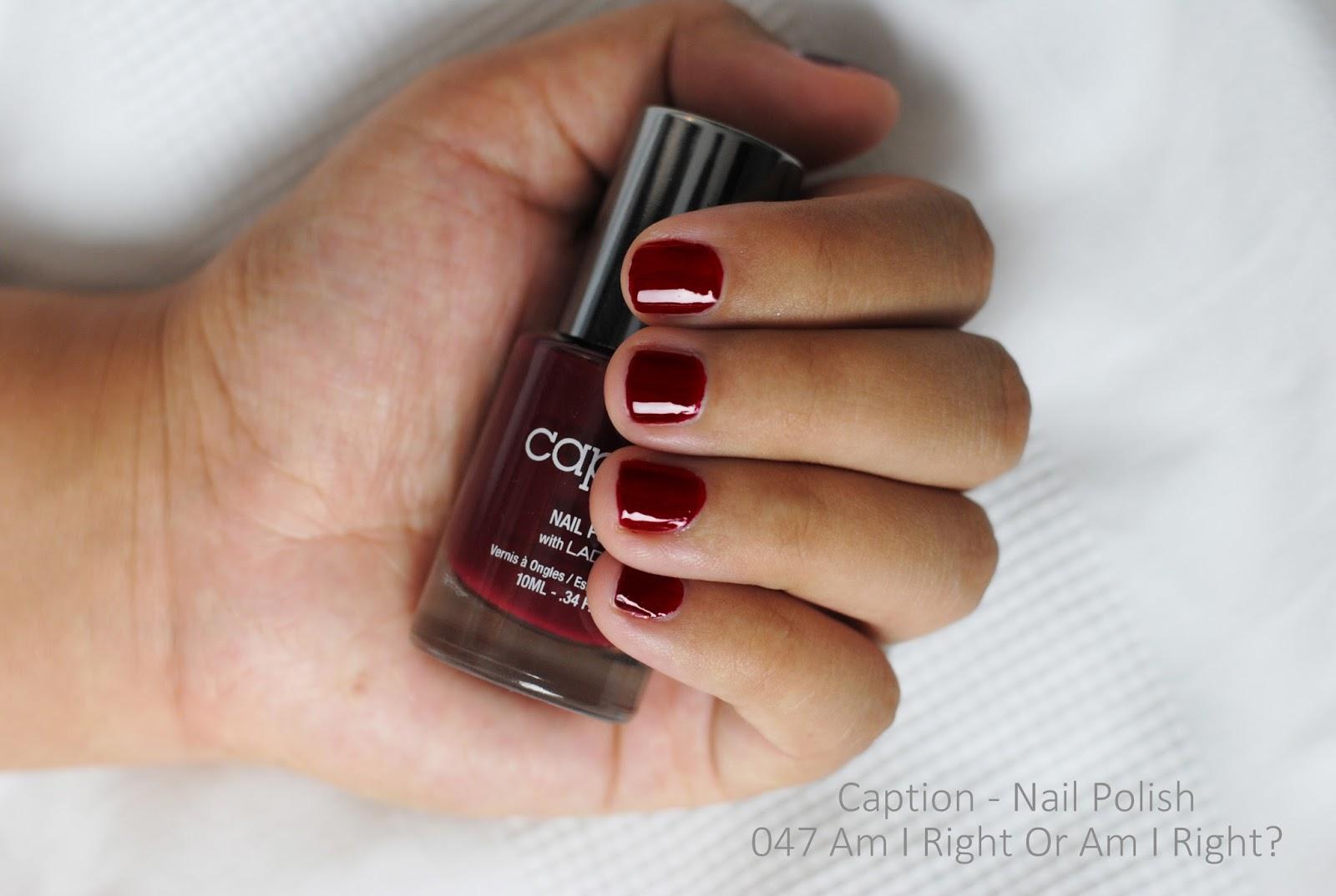 I AM A FASHIONEER: Caption - Burgundy Nails