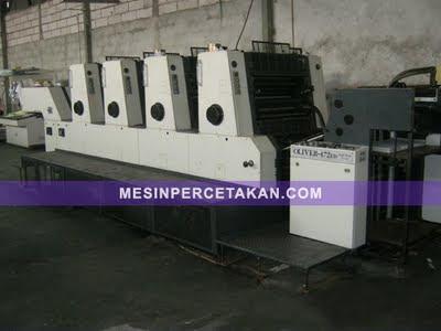 Sakurai Oliver 472ED | Mesin cetak 4 warna