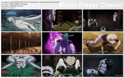 "Download Film / Anime Hunter x Hunter 2011 Episode 81 ""Pertarungan dan dimulai"" Bahasa Indonesia"