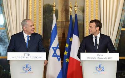"""Netanyahu para Macron: """"Paris é a capital da França, Jerusalém é a capital de Israel"""""""