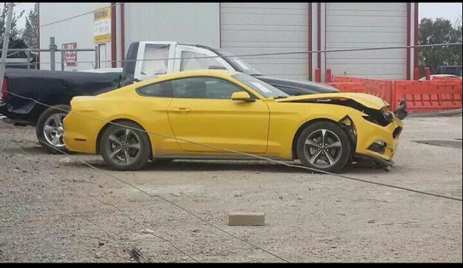 Aww, 2015 Ford Mustang Has Its First Crash Booboo, But Why ...