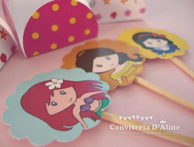 decoração festa princesas personalizada