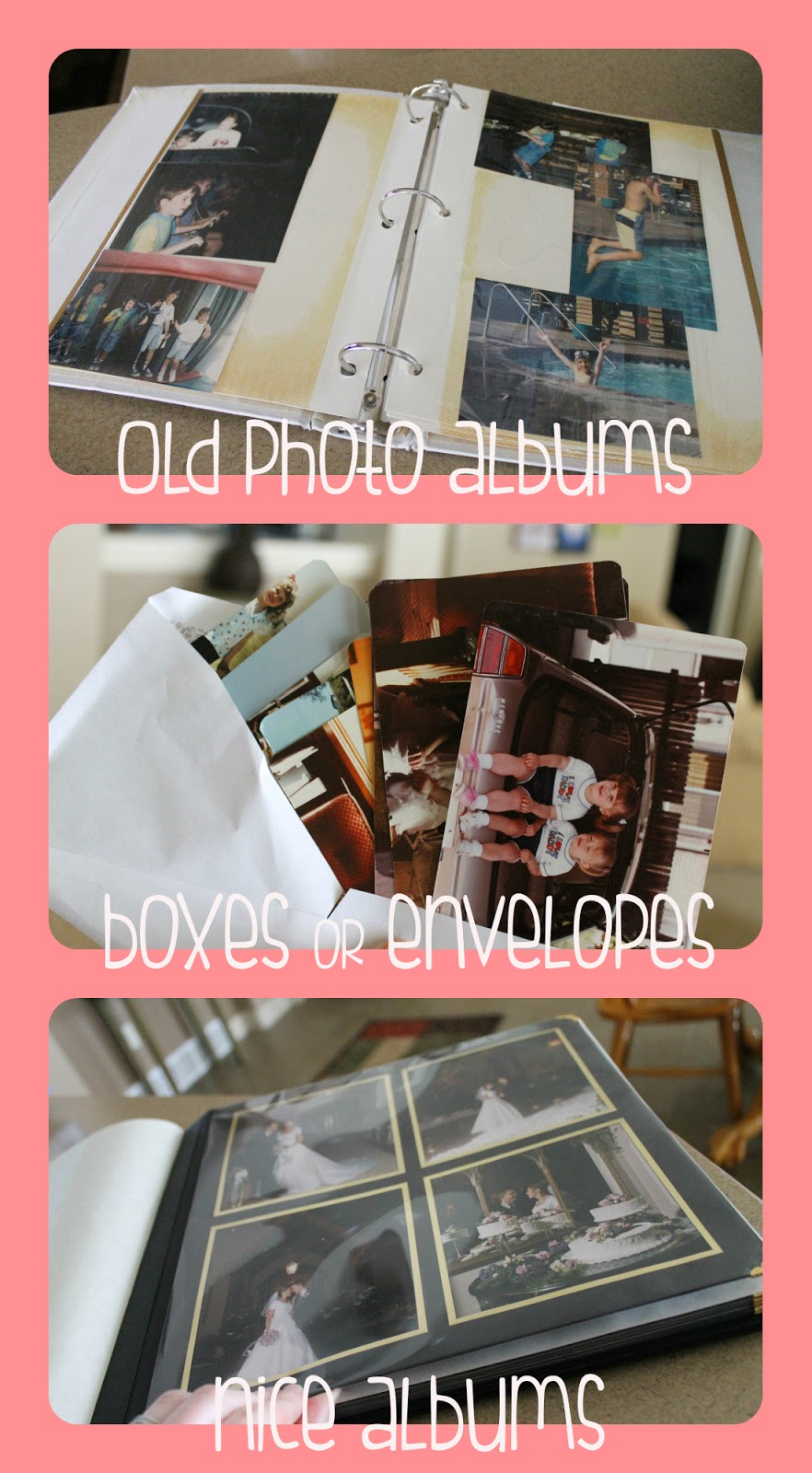 organizing non digital photos, what to do with old photos, preserving memories