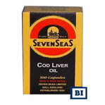CAPSULAS DE SIETE MARES:ACEITE DE BACALAO. CON 100 CAPSULAS $280.00 PESOS