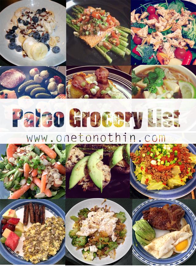 my typical paleo grocery list