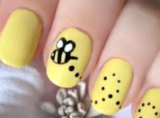 Bumble Bee nails - Nail Art Tutorial. Study at home