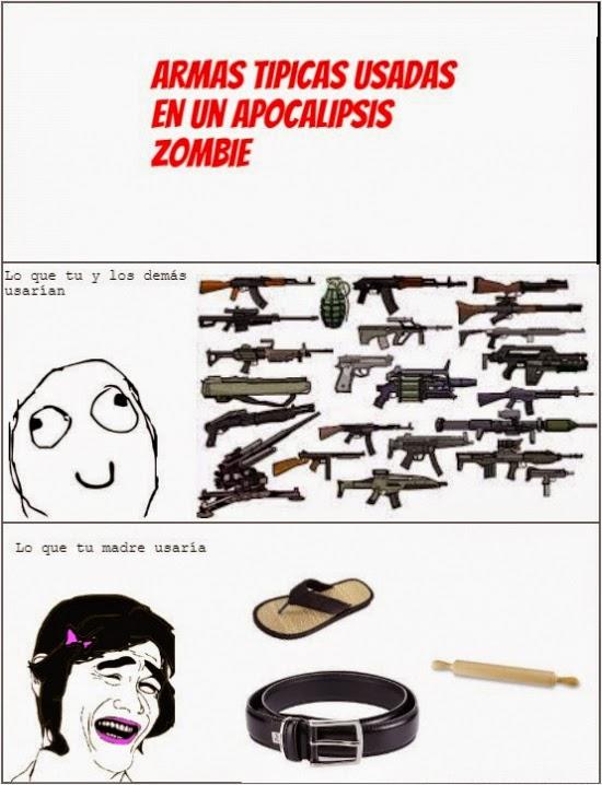 Armas utilizadas en un apocalipsis Zombie