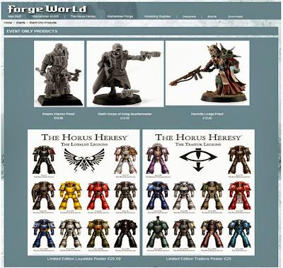 Objetos exclusivos de Forge World para el Games Day