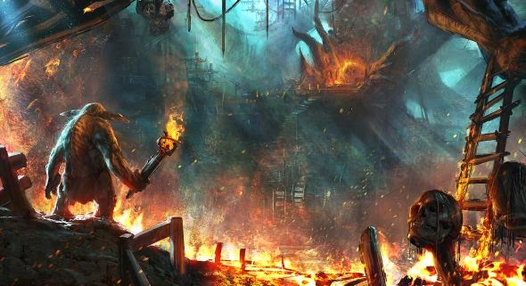 Grosnez deviantart illustrations fantasy science fiction It must all burn