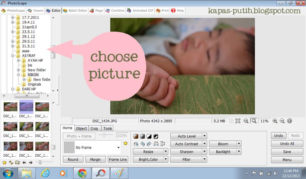 Pilih gambar - Photoscape
